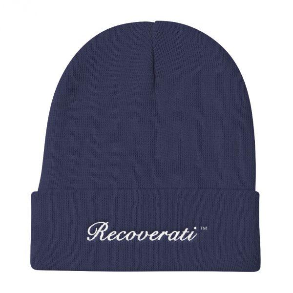 Recoverati blue knit beanie