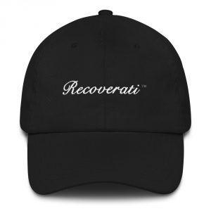 Recoverati black dad hat