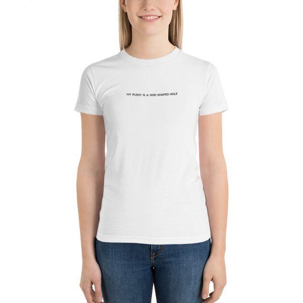 God Shaped Hole white t-shirt