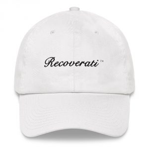 Recoverati white dad hat