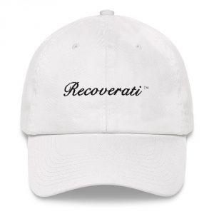 Recoverati white dad hat