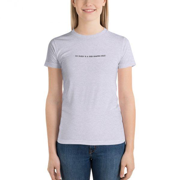 God Shaped Hole grey t-shirt