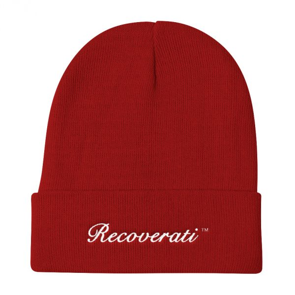 Recoverati red knit beanie