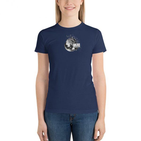 IT GETS FUNNIER navy t-shirt