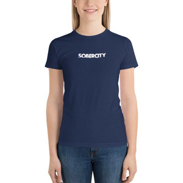 SOBERCITY navy t-shirt
