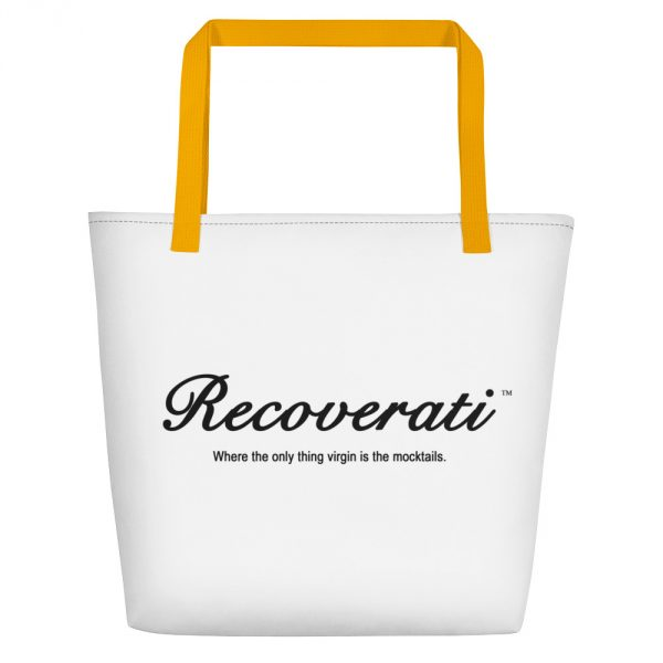 Recoverati white tote with gold handles