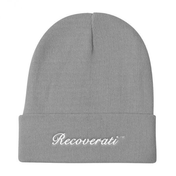 Recoverati grey knit beanie