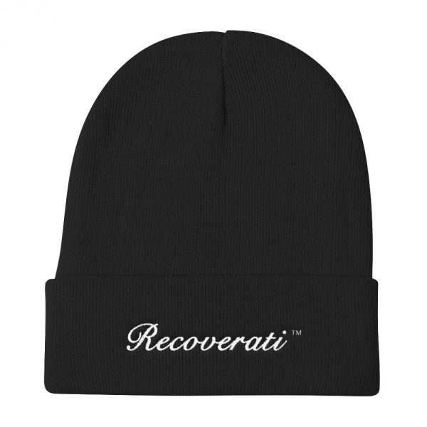 Recoverati black knit beanie