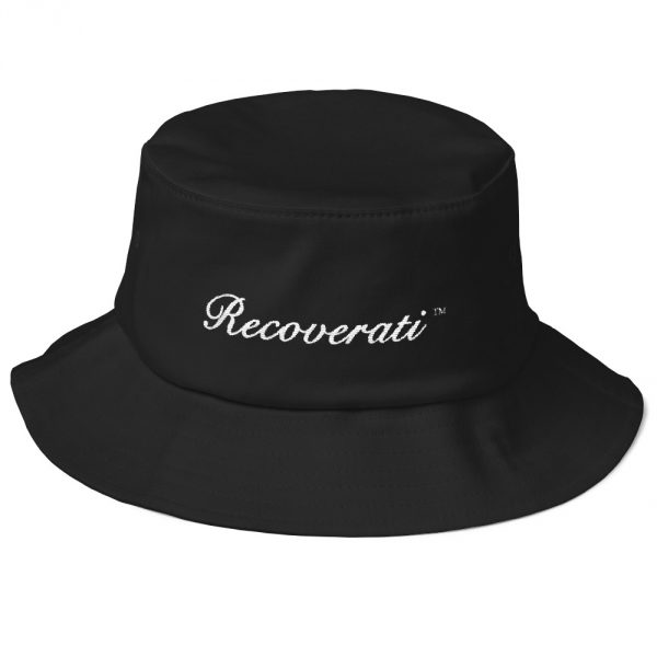 Recoverati black bucket hat