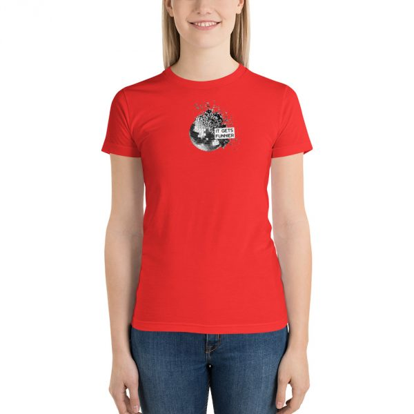 IT GETS FUNNIER red t-shirt